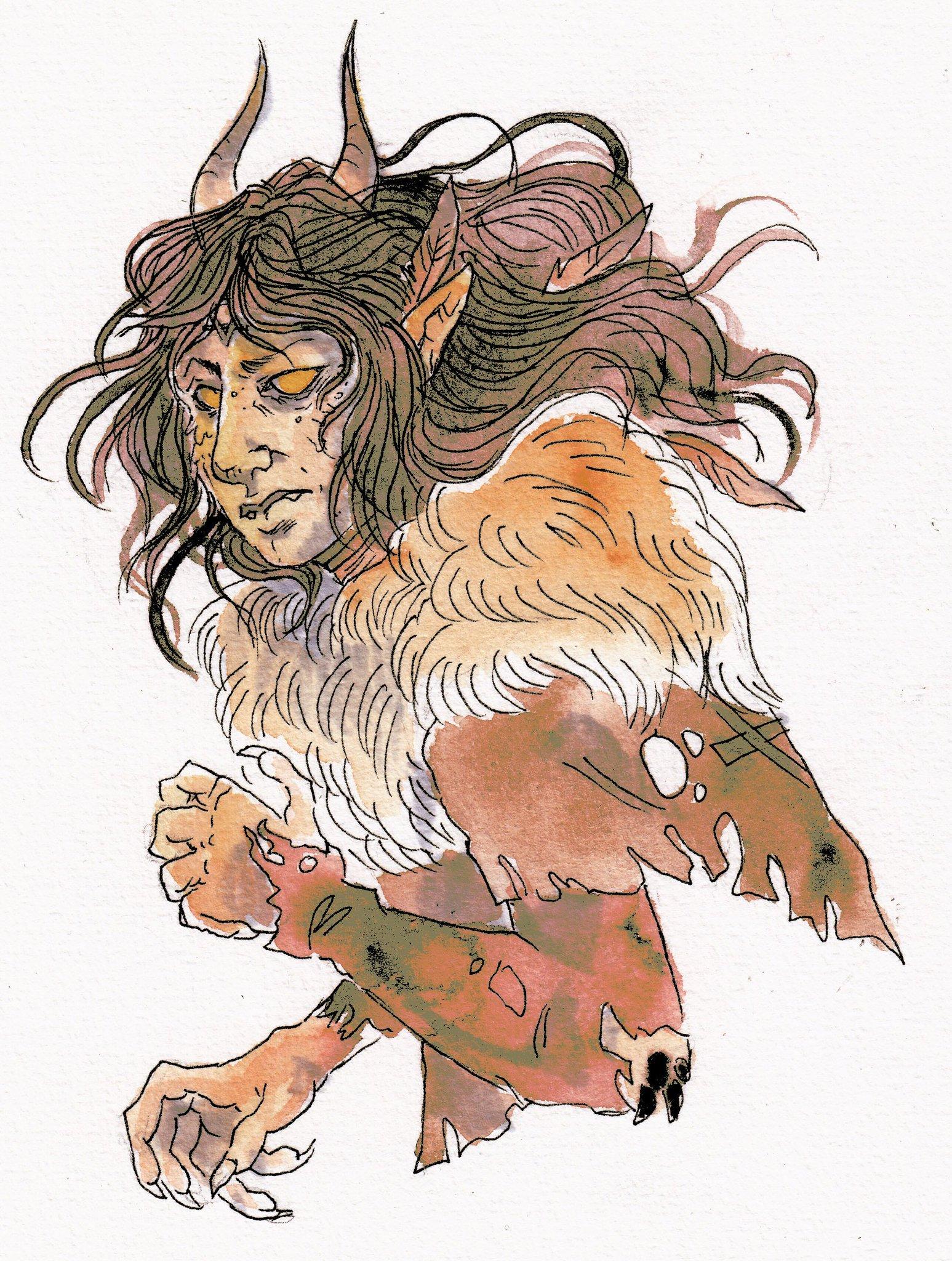 kayla-cline La druidessa tiefling Kestrel - by Kayla Cline www.kaylacline.com (2017-12) © dell'autore, tutti i diritti riservati