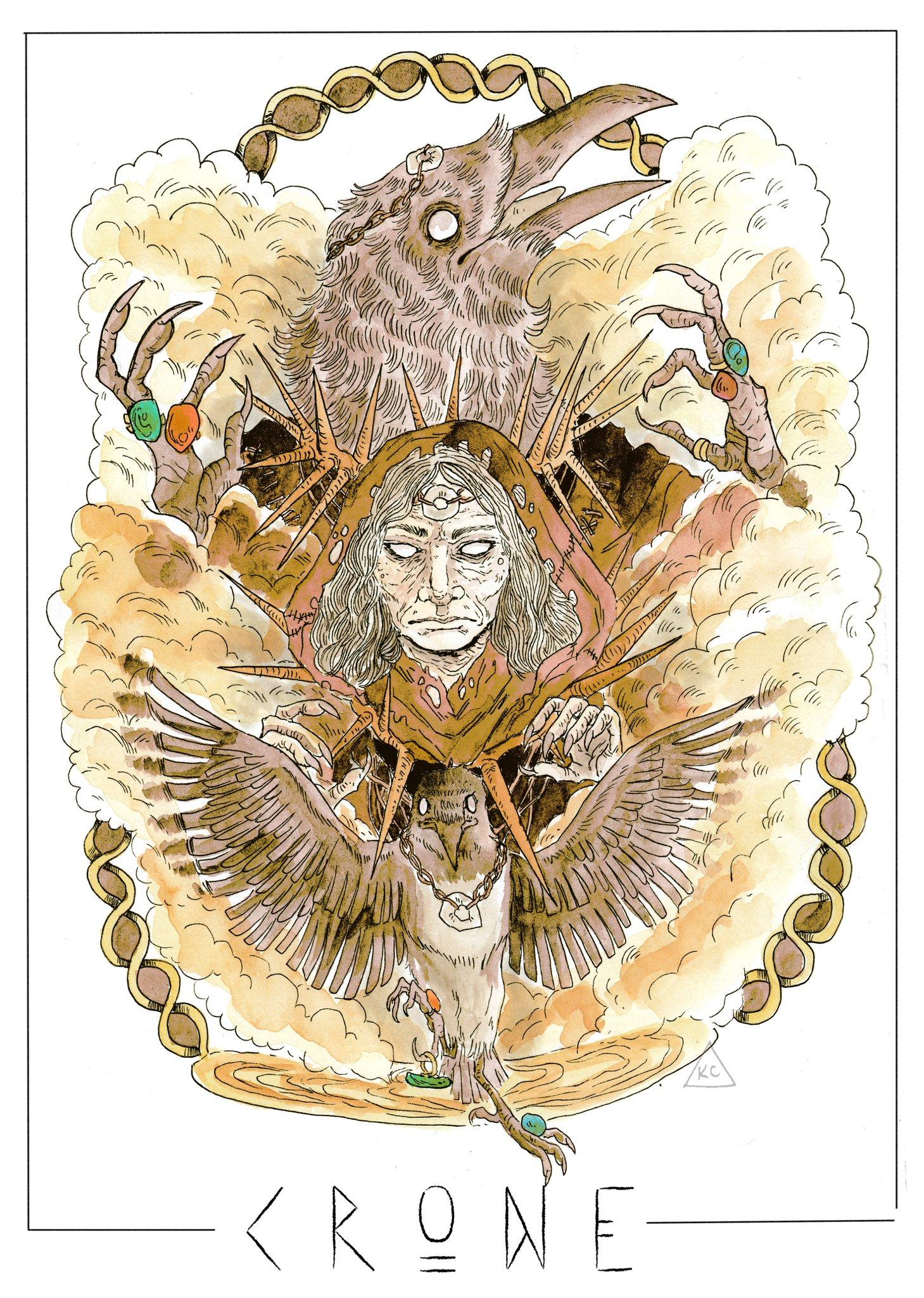 kayla-cline sempre il png Crone, corvo mannaro, per Trapped In The Birdcage - by Kayla Cline www.kaylacline.com (2018-03) © dell'autore, tutti i diritti riservati
