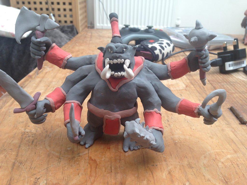 "daleksaresupreme1 ""Six-armed War Ogre"", Hextor avatar - by Lucas Mitchell (daleksaresupreme1) daleksaresupreme1.deviantart.com (2014) © dell'autore tutti i diritti riservati"