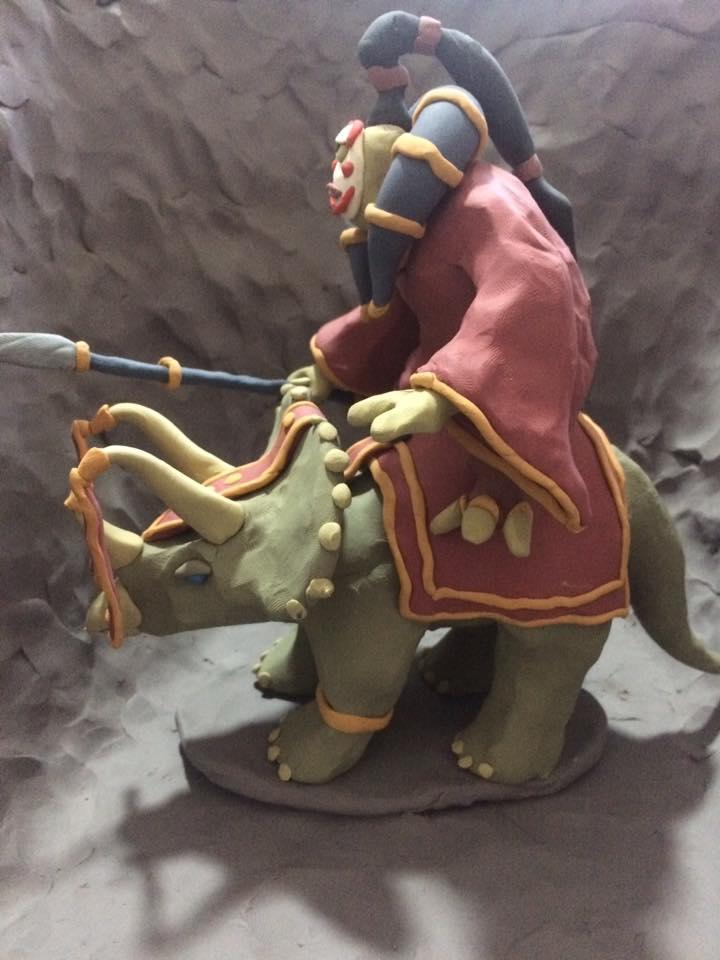 daleksaresupreme1 Cyclops on a Triceratops 2 - view 2 - by Lucas Mitchell (daleksaresupreme1) daleksaresupreme1.deviantart.com (2017-10) © dell'autore tutti i diritti riservati