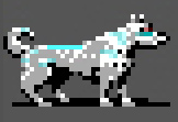winter wolf pixelart Lupo Invernale Videogame: Neverwinter Nights (1991-12) © America Online, Wizards of the Coast & Hasbro