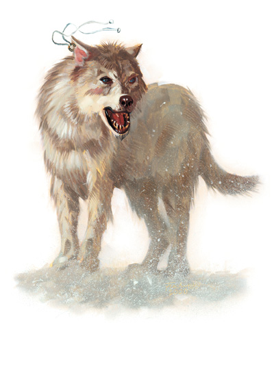 winter wolf Lupo Invernale - by Scott Fischer Monster Manual I (2003) © Wizards of the Coast & Hasbro