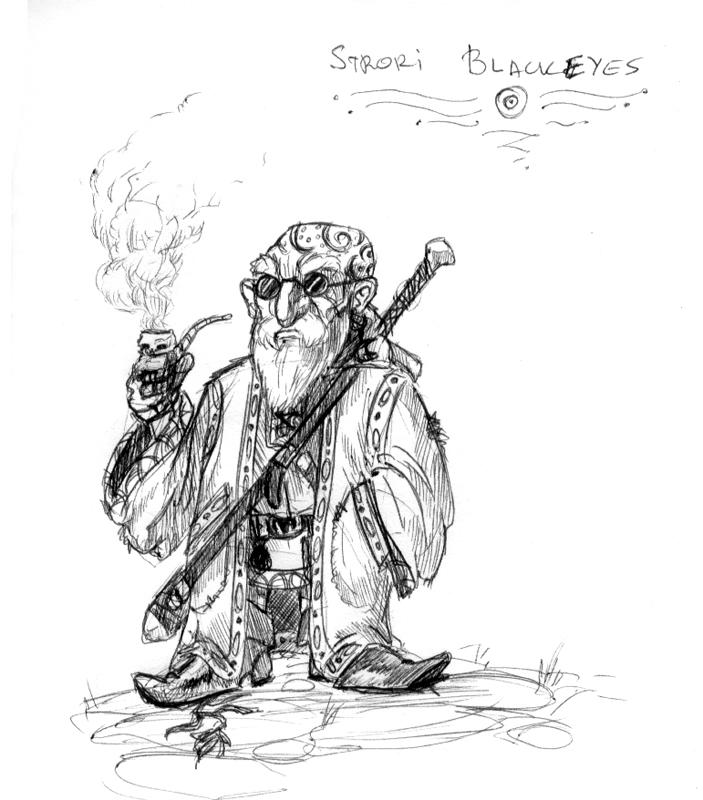 """magiy """"Strori Blackeyes"""", il nano doomguard, caotico malvagio - by Magiy (Kalin Kadiev) jenxrodwell.tumblr.com (2013-06) © dell'autore tutti i diritti riservati"""