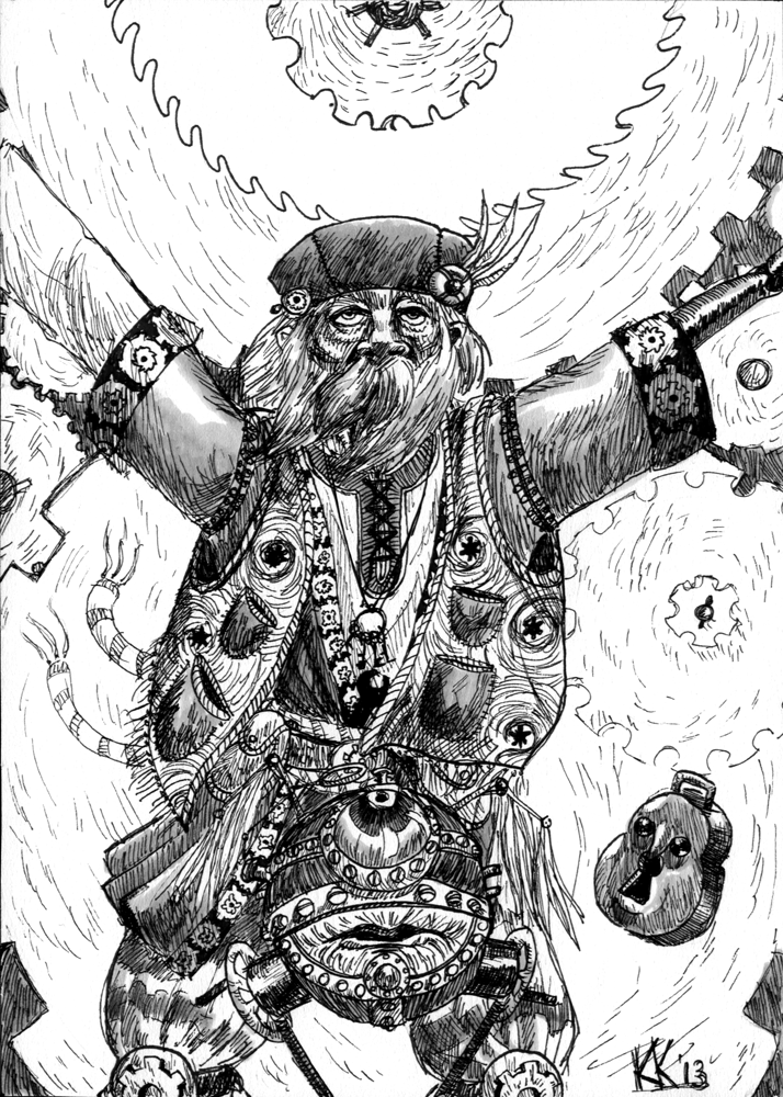 "magiy monodrone ""Gears of Mechanus"", druido di Mechanus - by Magiy (Kalin Kadiev) magiy.deviantart.com (2013) © dell'autore tutti i diritti riservati"