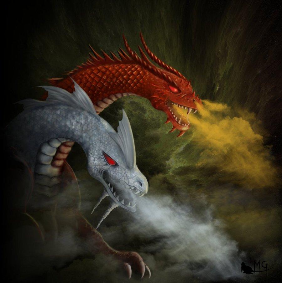 """morgege """"Kroth, Dragon des Abysses"""" - by morgege (Genevieve Morge) morgege.deviantart.com (2009) © dell'autore tutti i diritti riservati"""