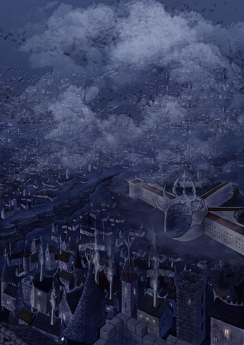 """morgege """"Sigil, La Loge"""", fantastica vista di Sigil - by morgege (Genevieve Morge) morgege.deviantart.com (2009) © dell'autore tutti i diritti riservati"""