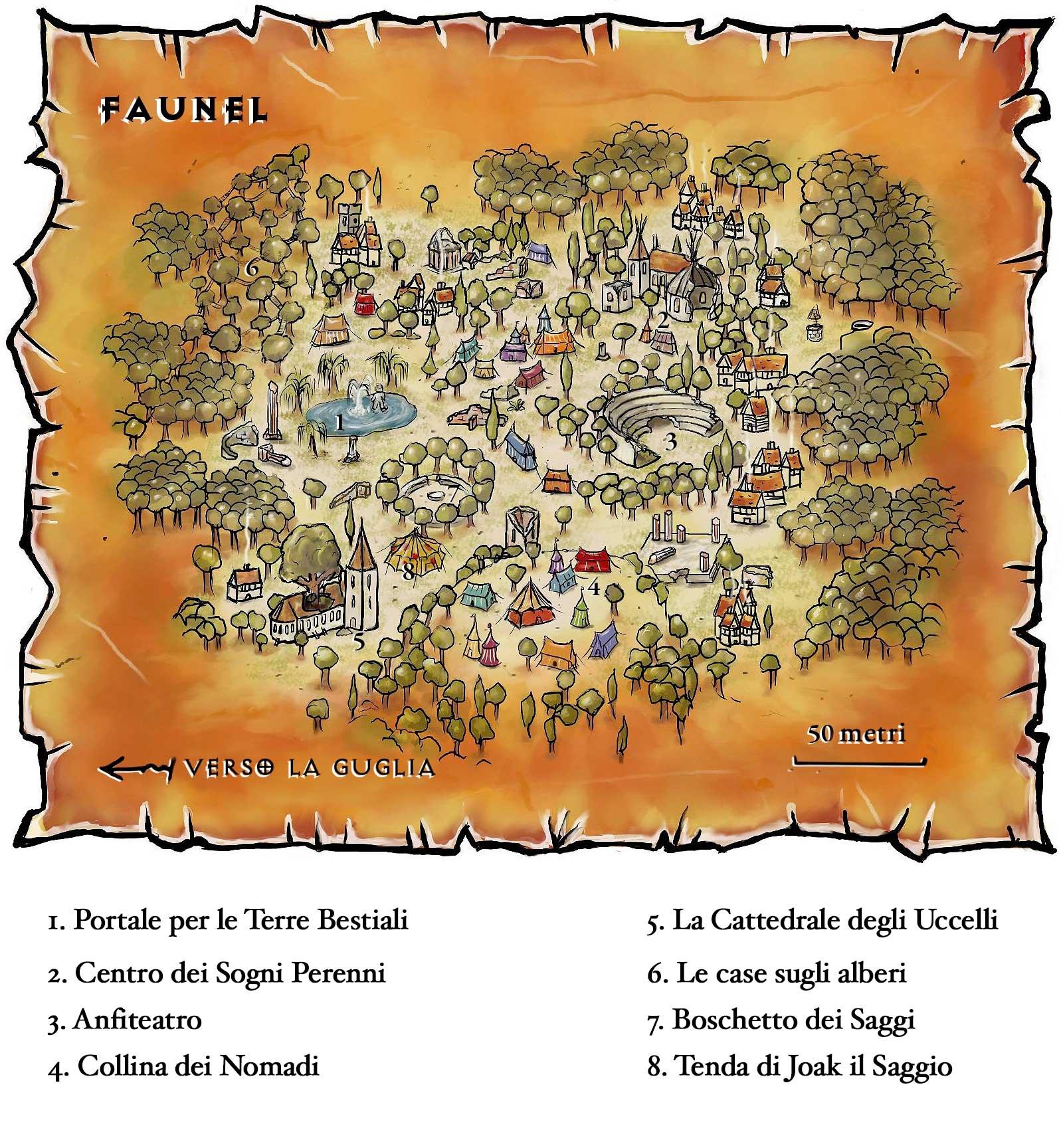 faunel outlands gate-town map Mappa di Faunel - by morgege (Geneviève Morge) www.ratcreve.com (2008-2013) © dell'autore e Le Rat Crevé