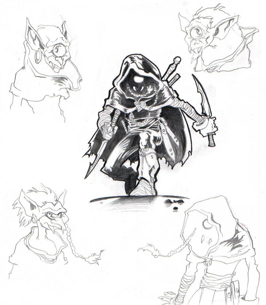 """nezart """"Tatala"""", concept preparatorio per una creatura a metà tra ragno e goblin - by Nezart (Domenico Neziti) nezart.deviantart.com (2001) © dell'autore tutti i diritti riservati"""