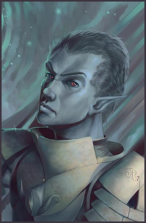 """ochrejelly """"Dark Hunter"""", un drow (speedpaint) - by ochrejelly (Jake Probelski) ochrejelly.deviantart.com (2007) © dell'autore tutti i diritti riservati"""