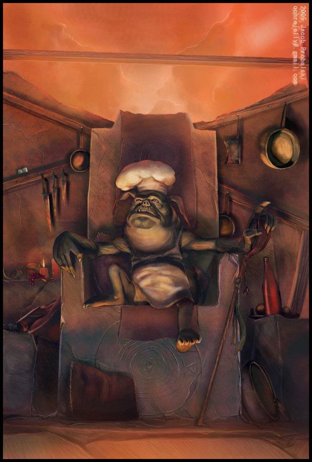"ochrejelly ""Dretch Cook"" - by ochrejelly (Jake Probelski) ochrejelly.deviantart.com (2005) © dell'autore tutti i diritti riservati"