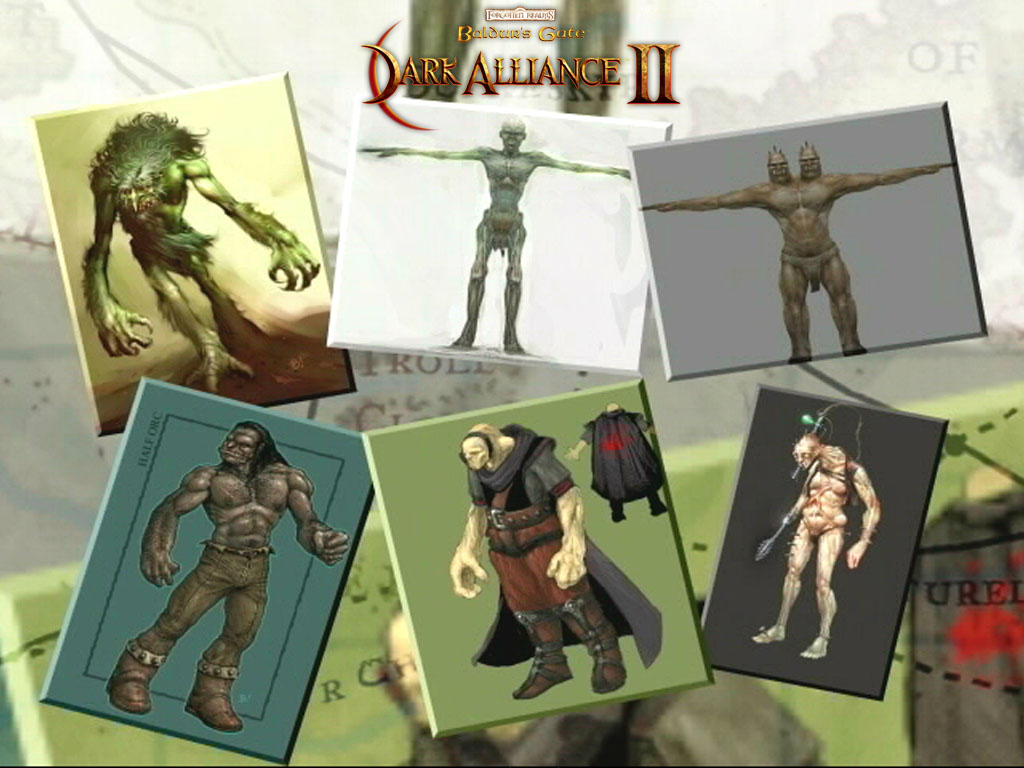 orc Concept e prerendering: troll, ghoul, ettin, ogre, orco, argesh Videogame: Baldur's Gate, Dark Alliance II (2004-01) © Vivendi, Wizards of the Coast & Hasbro