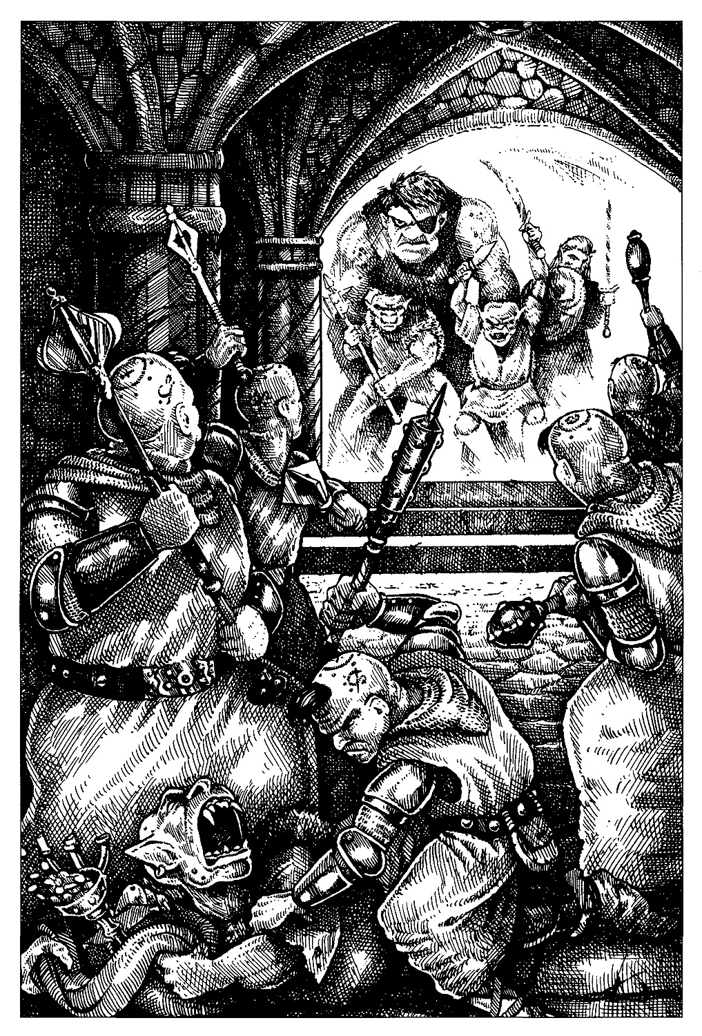 orc Ogre e orchi - by Arnie Swekel TSR - Encyclopedia Magica, Volume II (1995-02) © Wizards of the Coast & Hasbro