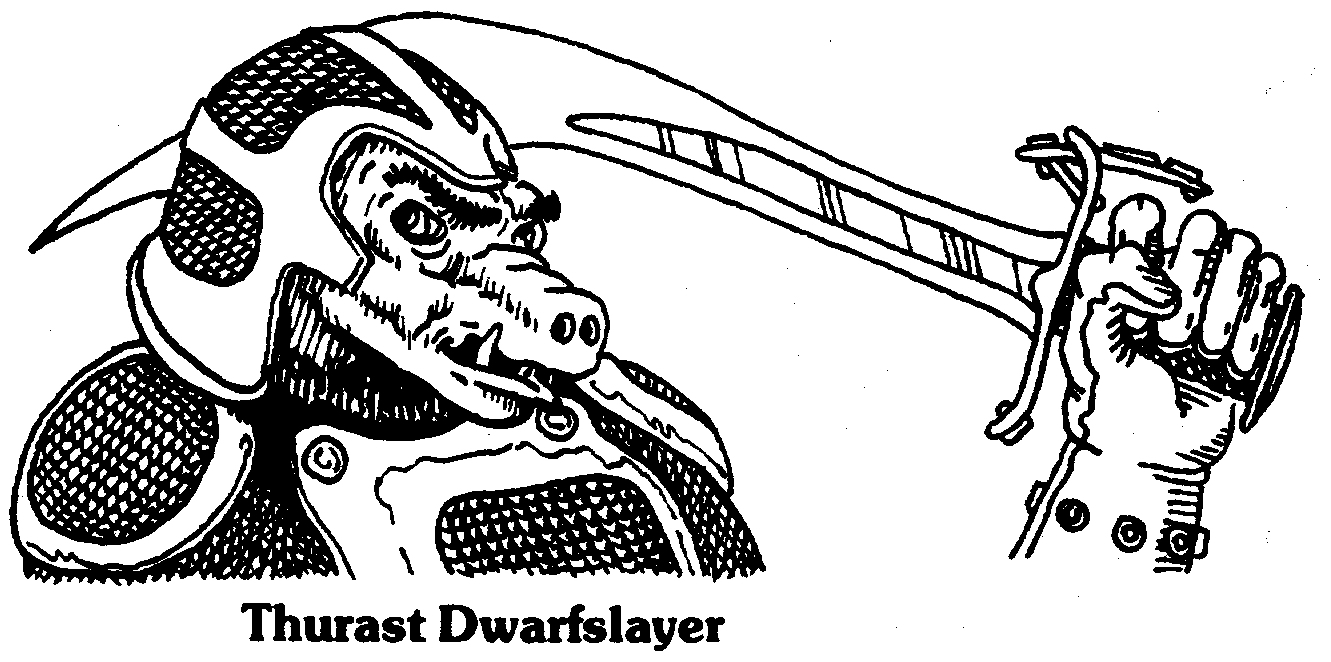 orc dwarfslayer Thurast l'Ammazanani - by Karl Merris Dragon Magazine #32 (1979-12) © Wizards of the Coast & Hasbro