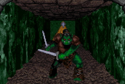 orc pixelart Orco, screenshot Videogame: Forgotten Realms, Dungeon Hack (1993-12) © SSI, Wizards of the Coast & Hasbro