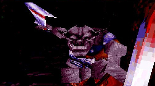 orc Orco in 3D, screenshot Videogame: Descent to Undermountain (1997-12) © Interplay, Wizards of the Coast & Hasbro
