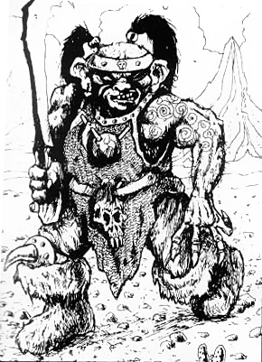 orc soldier Orco soldato White Dwarf Magazine #53 (1984-05) © Wizards of the Coast & Hasbro