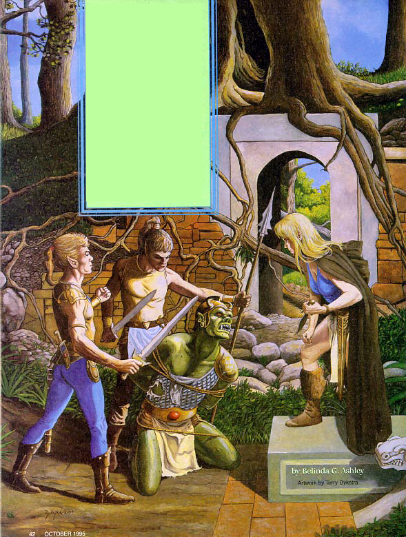 "orc green elves Orco ed elfi ""verdi"" - by Terry Dykstra Dragon Magazine #222 (1995-10) © Wizards of the Coast & Hasbro"