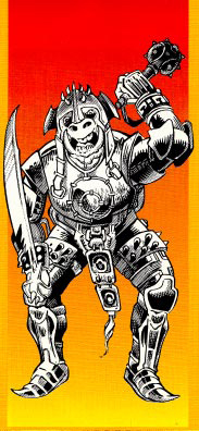 orc Orco barbaro - by Thomas Baxa Dragon Magazine #163 (1990-11) © Wizards of the Coast & Hasbro