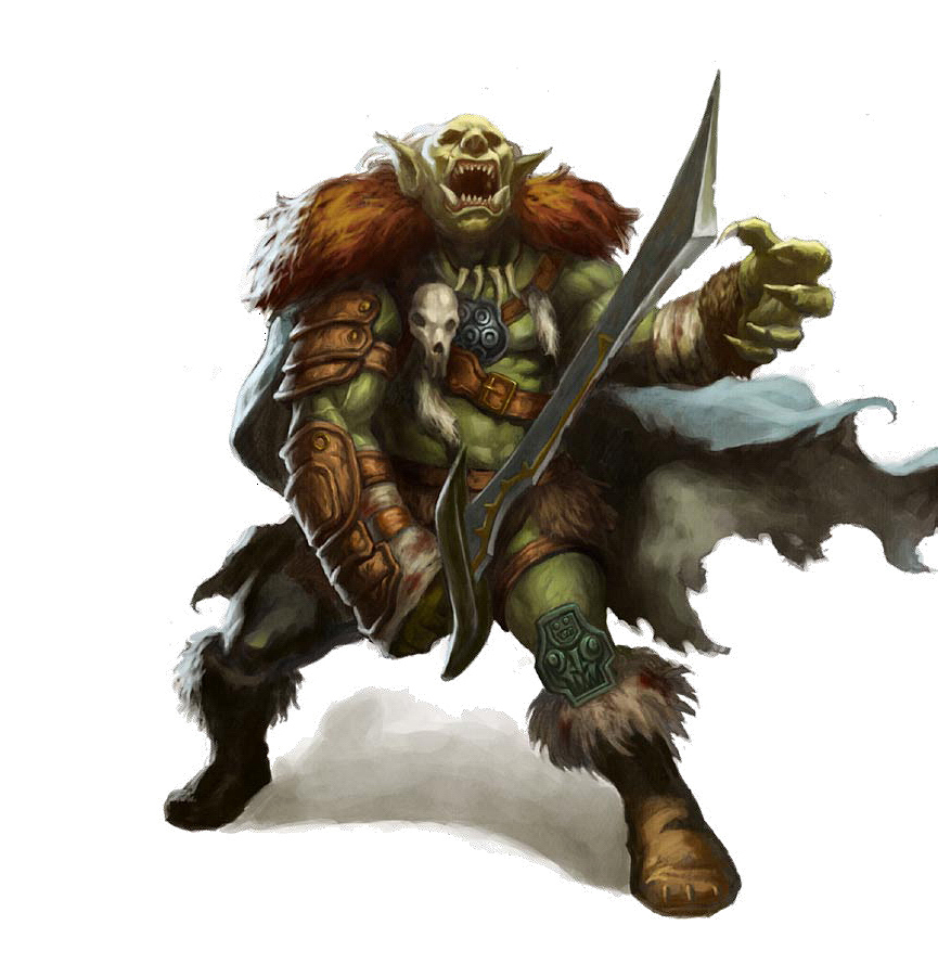 orc Orco - by Concept Art Home Pathfinder Roleplaying Game, Bestiary (2009) © Paizo Publishing, Wizards of the Coast & Hasbro
