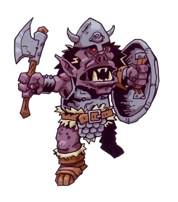 "orc Orco SD - by Kyle Stanley Hunter ""Downer"" dalle pagine di Dragon Magazine (2007) © Paizo Comics, Wizards of the Coast & Hasbro"