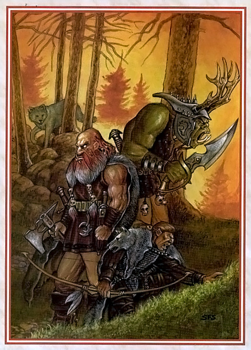 orc Orco e mezzorco - by Stephen Schwartz Dragon Magazine #246 (1998-04) © Wizards of the Coast & Hasbro