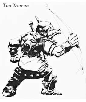 orc toy sketch Bozzetto per una action figure in pvc di orco - by Timothy Truman Official Advanced Dungeons & Dragons toys (1985) © LJN, Wizards of the Coast & Hasbro