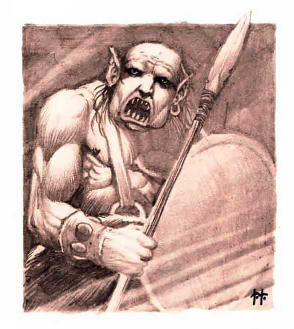orc Orco - by Timothy Truman TSR - Temple of Death (1983) © Wizards of the Coast & Hasbro