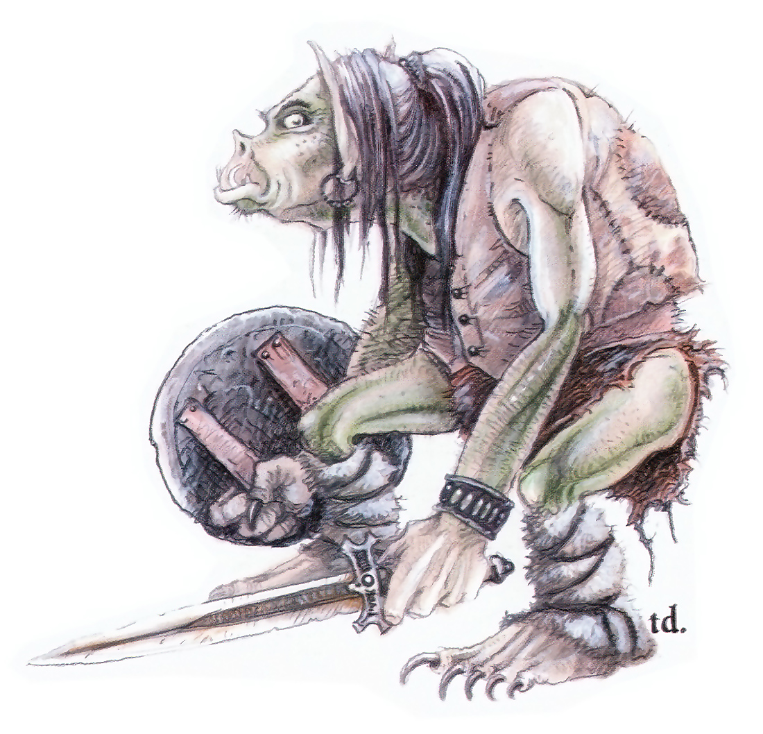orc Orco - by Tony Diterlizzi TSR - Monstrous Manual (1993) © Wizards of the Coast & Hasbro