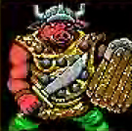 orc pixelart Portrait di orco Videogame: Neverwinter Nights (1991-12) © America Online, Wizards of the Coast & Hasbro