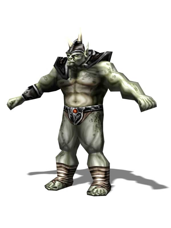 orc Orco, rendering Videogame: Pool of Radiance, Ruins of Myth Drannor (2000-06) © Ubisoft, Wizards of the Coast & Hasbro