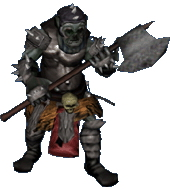 orc Orco, prerendering Videogame: Baldur's Gate, Dark Alliance II (2004-01) © Vivendi, Wizards of the Coast & Hasbro
