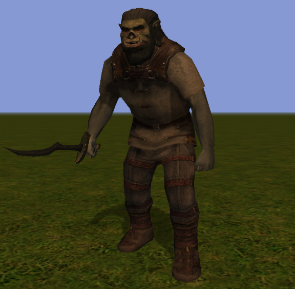 orc Orco, screenshot Videogame: NeverWinter Nights 2 (2006-10) © Atari, Wizards of the Coast & Hasbro