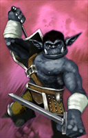 orc Portrait, orco variante 4 Videogame: NeverWinter Nights (2002-12) © Interplay, Wizards of the Coast & Hasbro
