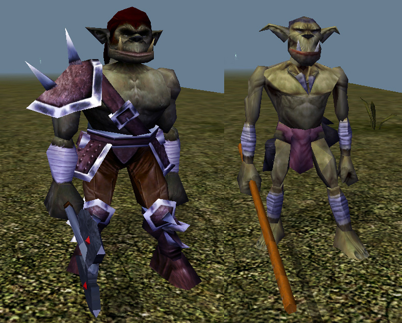 orc shaman Orco guerriero e orco sciamano, screenshot Videogame: NeverWinter Nights (2002-12) © Interplay, Wizards of the Coast & Hasbro
