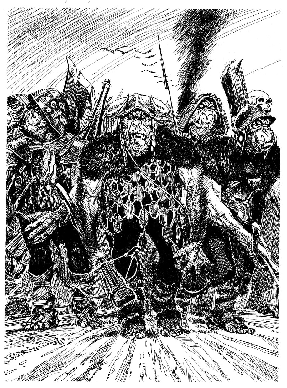 orcs Banda di orchi - by Ken Frank TSR - From the Ashes, Atlas of the Flanaess (1992-10) © Wizards of the Coast & Hasbro