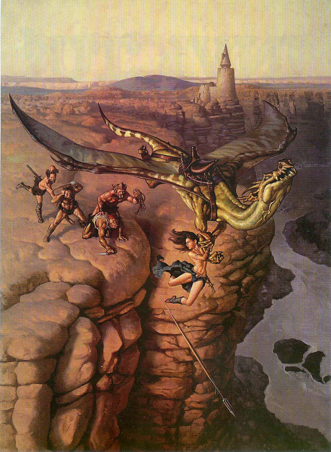 orc dragon Orchi e drago - by Mark Zug Dragon Magazine Annual #4 (1999-11) © Wizards of the Coast & Hasbro