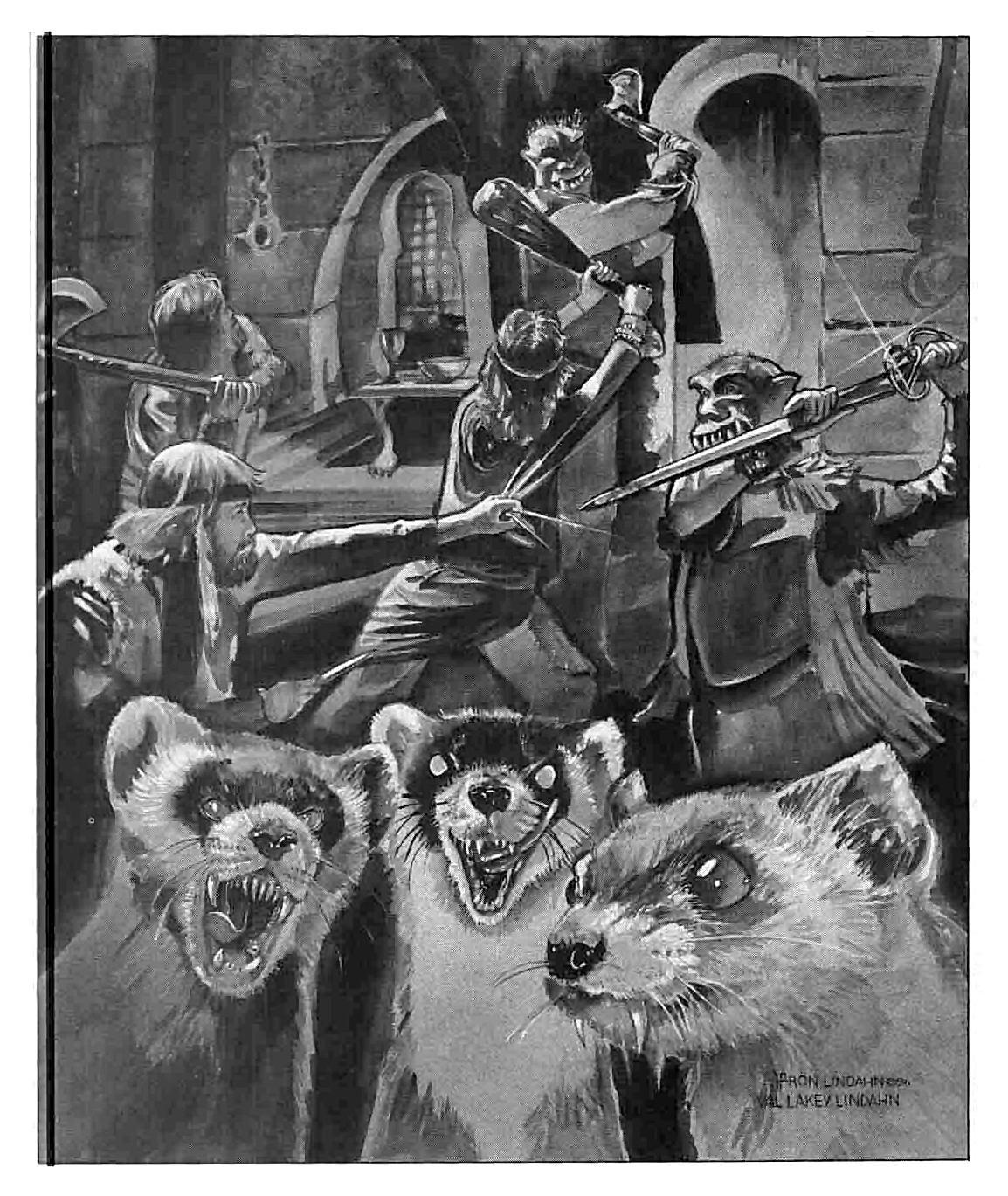 orc Orchi e donnole giganti - by Ron Lindahn e Val Lakey Lindahn TSR - Adventure Collection, Scourge of the Slavelords (1986-04) © Wizards of the Coast & Hasbro