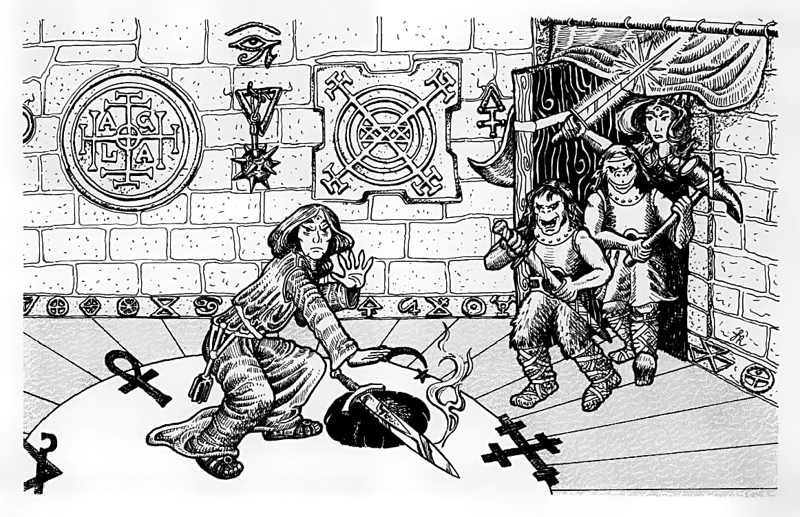 orcs Orchi - by Alan Hunter TSR - Introductory Module, Palace of the Silver Princess (1981) © Wizards of the Coast & Hasbro