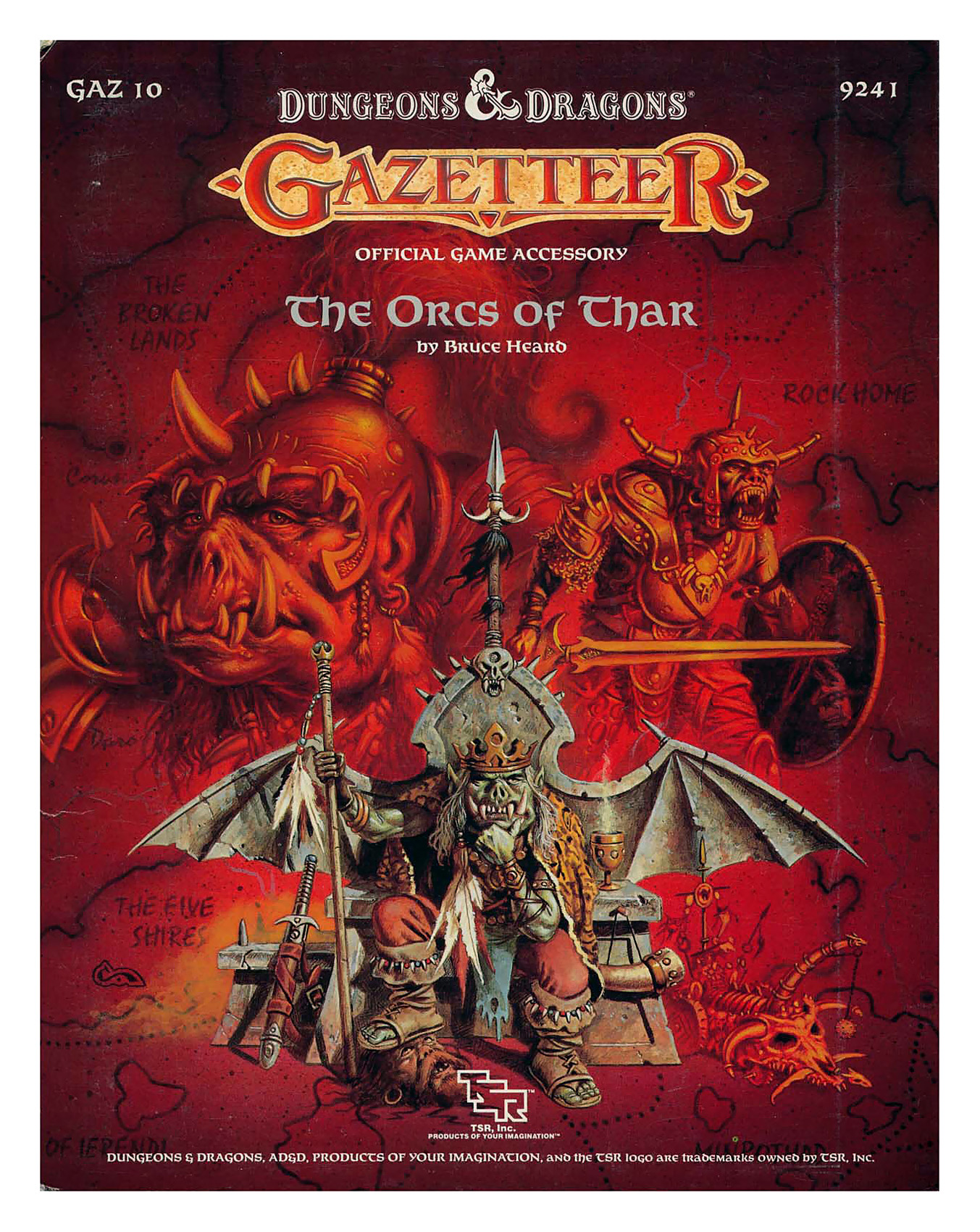 orcs Orchi di Thar in copertina - by Clyde Caldwell TSR - D&D Gazetteer, The Orcs of Thar (1988) © Wizards of the Coast & Hasbro