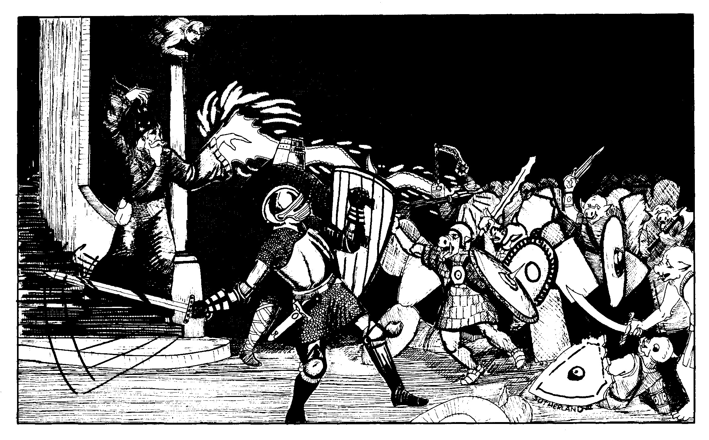 orc Orchi - by David C. Sutherland III TSR - Basic Rulebook (1978) © Wizards of the Coast & Hasbro