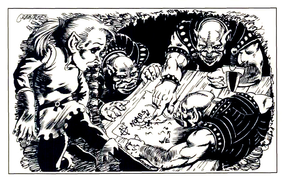 orcs gnome Gnomo spia degli orchi - by James Crabtree TSR - The Complete Book of Gnomes and Halflings (1993-02) © Wizards of the Coast & Hasbro