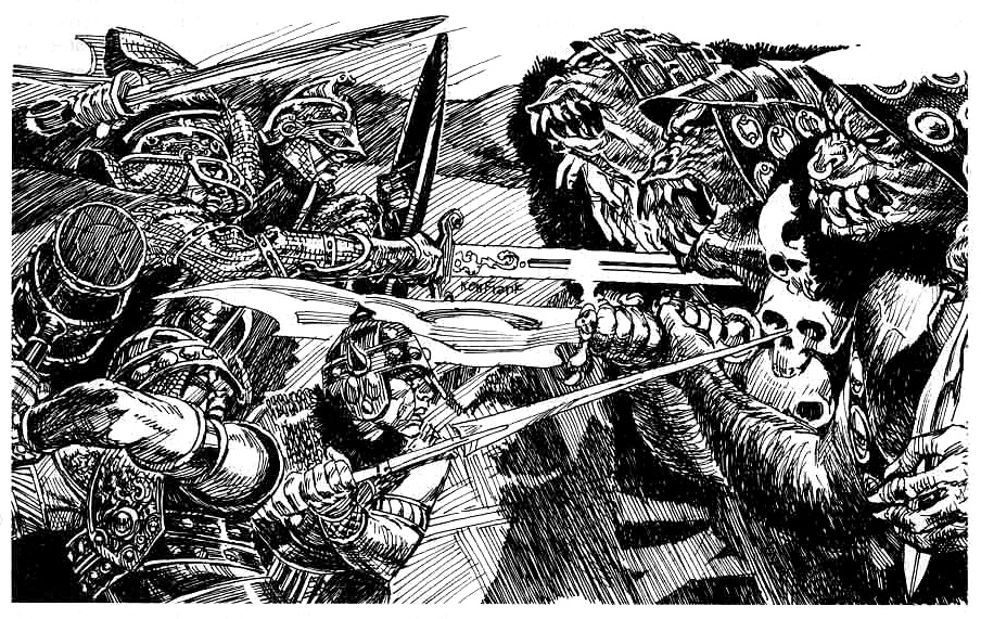 orcs Orchi - by Ken Frank TSR - From the Ashes, Atlas of the Flanaess (1992-10) © Wizards of the Coast & Hasbro
