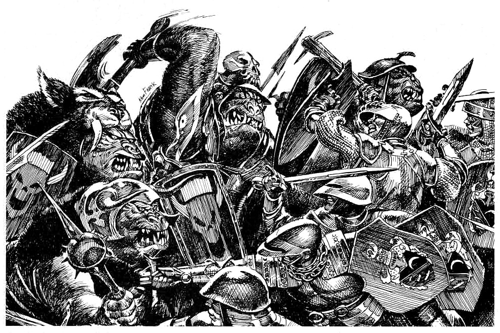orcs Orchi all'attacco - by Ken Frank TSR - Greyhawk Wars (1991-11) © Wizards of the Coast & Hasbro