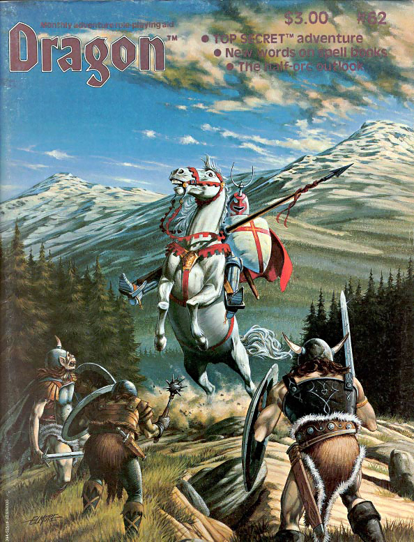 orc Orchi in copertina - by Larry Elmore Dragon Magazine #62 (1982-06) © Wizards of the Coast & Hasbro