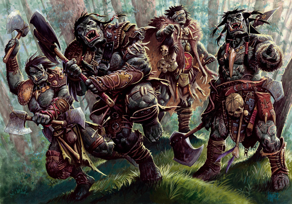 orcs Orchi - by Ralph Horsley Monster Manual (2008-06) © Wizards of the Coast & Hasbro