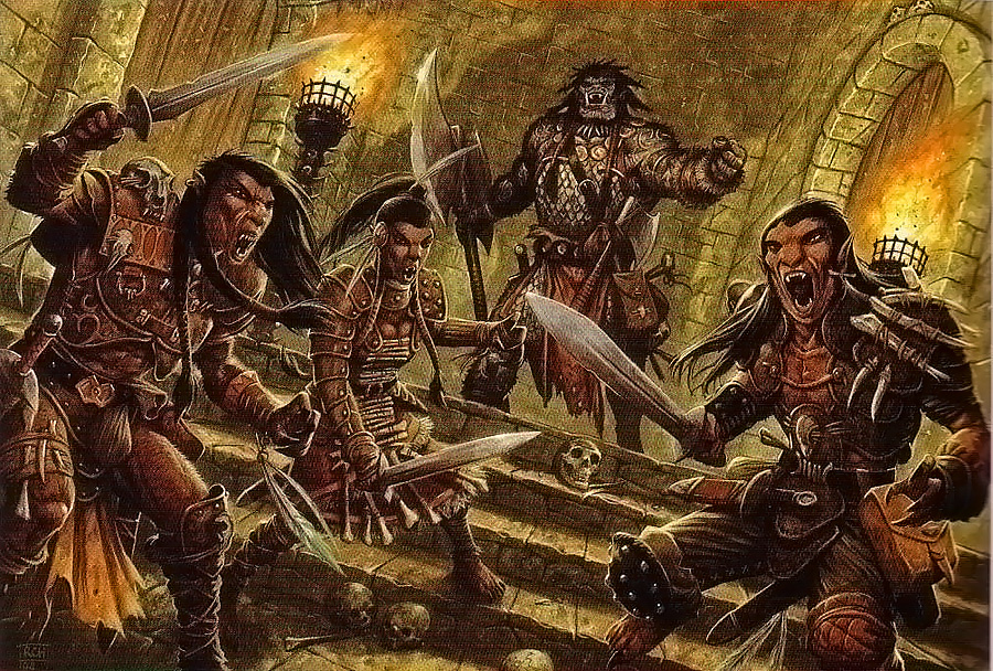 orcs Orchi - by Ralph Horsley Guida del Dungeon Master (2008-06) © 25 Edition, Wizards of the Coast & Hasbro