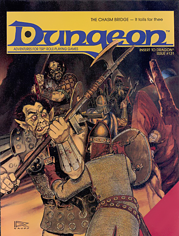 orcs Orchi sul ponte (e un Derro) in copertina - by Roger Raupp Dragon Magazine #131 (1988-03) © Wizards of the Coast & Hasbro