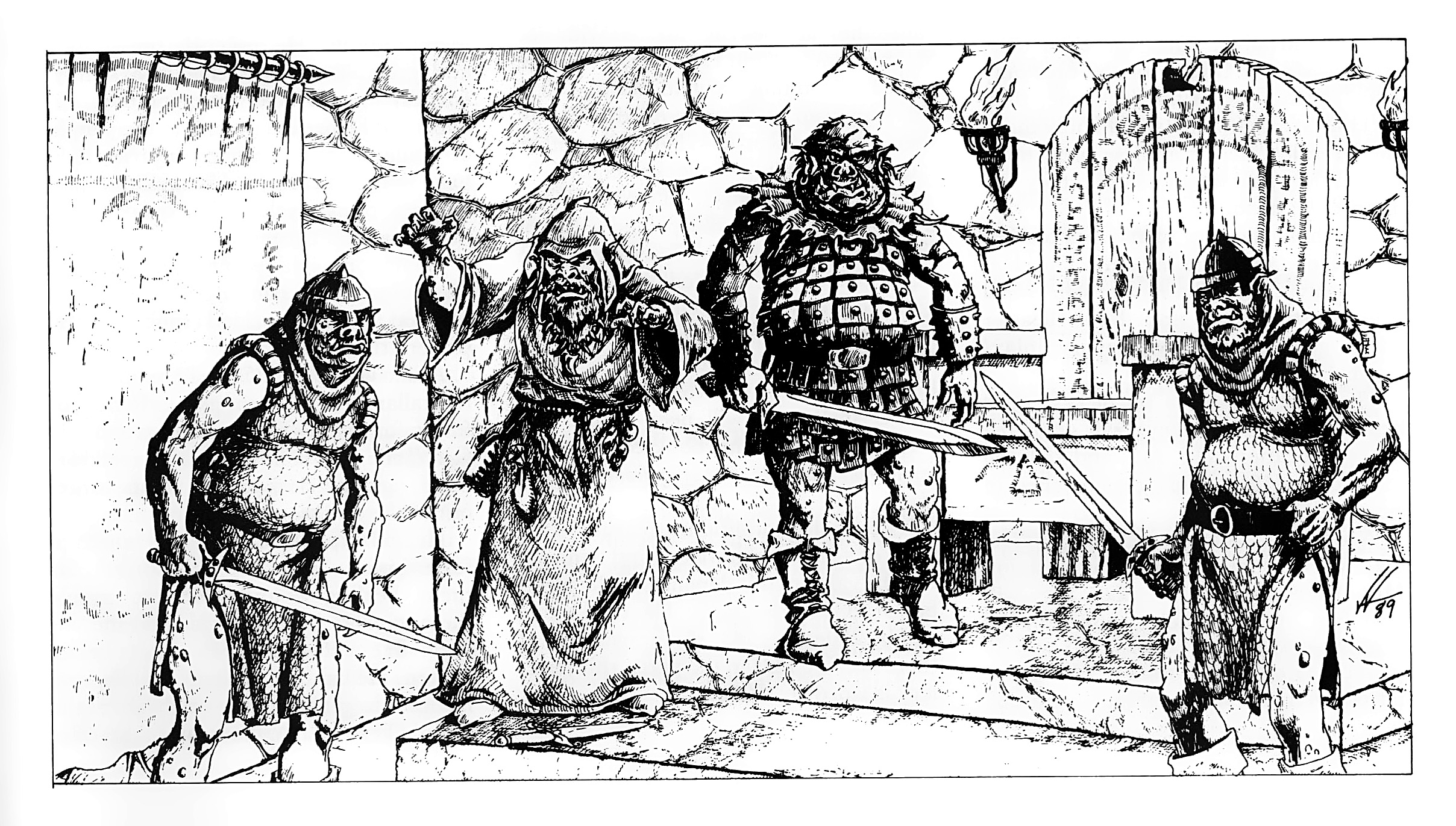 orc Antro degli orchi- by Valerie Valusek TSR - Introductory Adventure, King's Festival (1989) © Wizards of the Coast & Hasbro