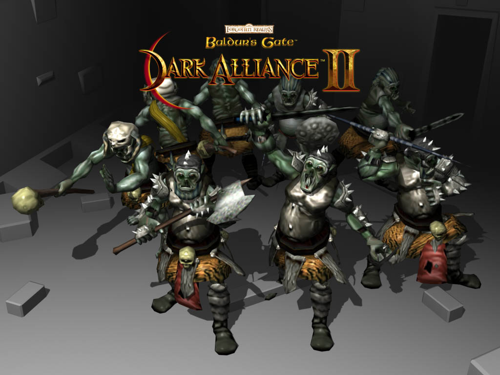 orcs Orchi, wallpaper Videogame: Baldur's Gate, Dark Alliance II (2004-01) © Vivendi, Wizards of the Coast & Hasbro