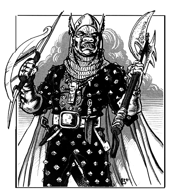 orc Orco Scro - by Terry Dykstra TSR - Monster Compendium, Spelljammer 2 Appendix (1991-03) © Wizards of the Coast & Hasbro